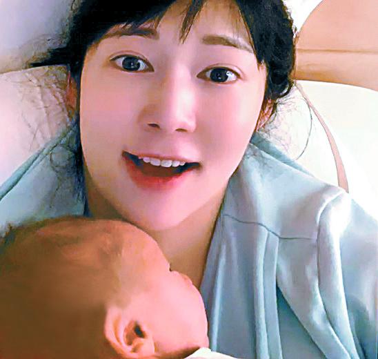 방송인 사유리가 지난 4일 일본에서 3.2kg의 건강한 남자아이를 출산했다. KBS 9뉴스 화면 캡처