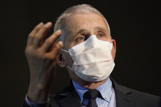 앤서니 파우치 미국 국립알레르기·전염병 연구소장. AP=연합뉴스