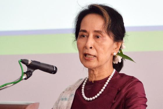 아웅산 수지 미얀마 국가 고문. 2019년 7월 모습. [AFP=연합뉴스]