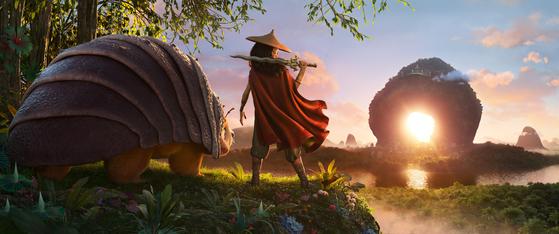 동남아시아 문화와 전설에서 영감을 받아 제작된 디즈니 스튜디오의 59번째 애니메이션 '라야와 마지막 드래곤'(감독 돈 홀, 카를로스 로페즈 에스트라다). [사진 월트디즈니컴퍼니 코리아]