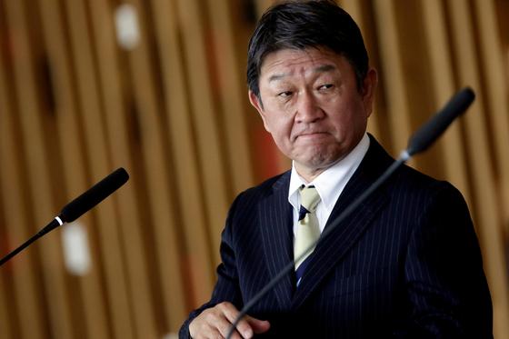 코테기 도시미쓰 일본 외무상. 로이터=연합뉴스