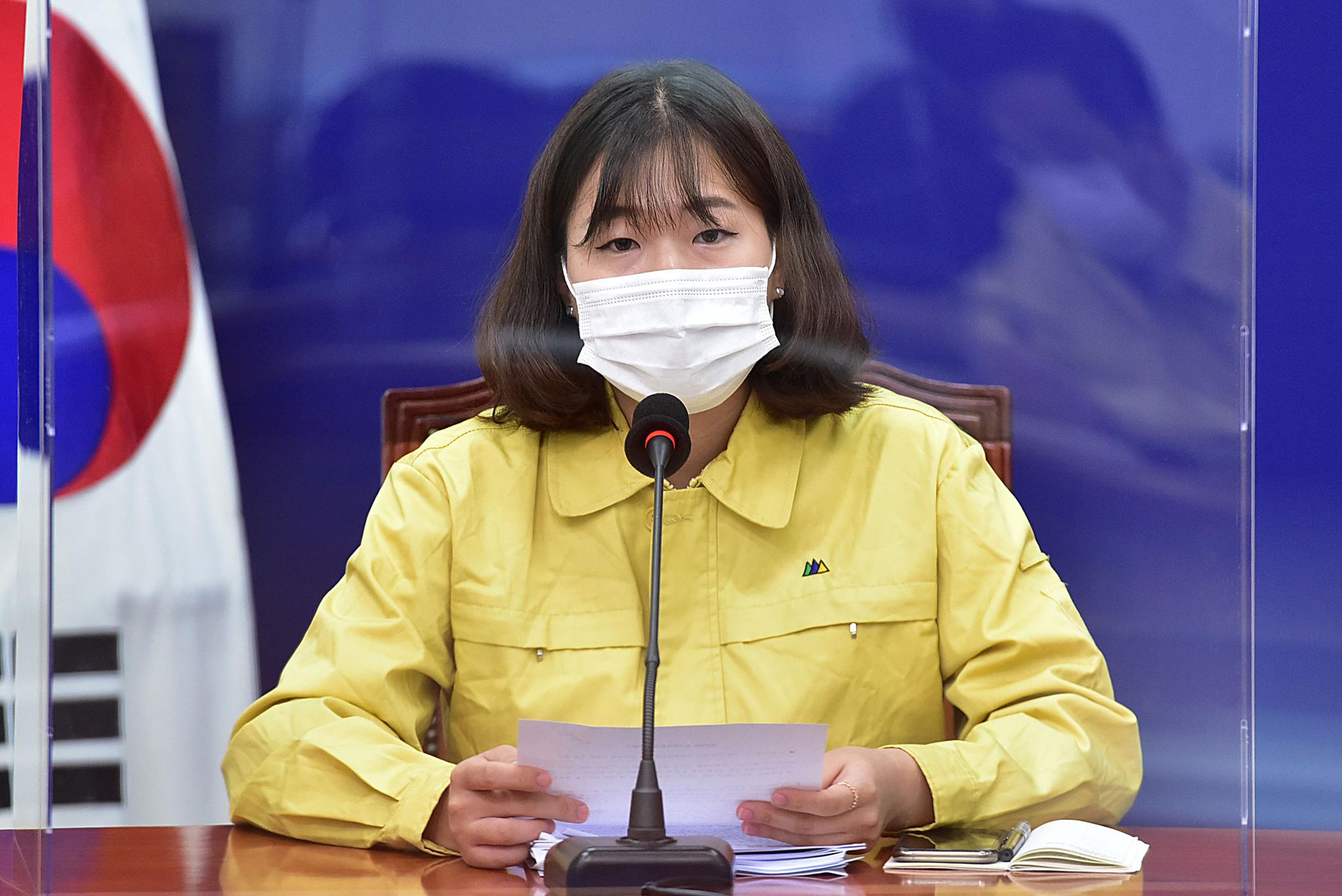 박성민 더불어민주당 박성민 최고위원이 9일 오전 국회에서 열린 당 최고위원회의에서 발언을 하고 있다. 연합뉴스