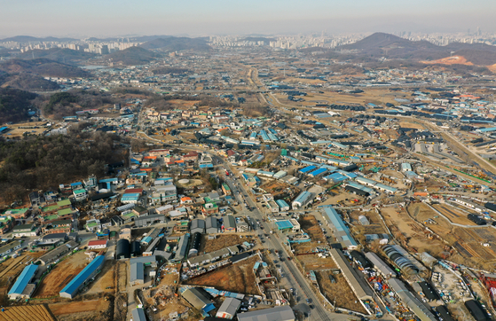 3기 신도시 부지로 지정된 경기도 시흥시, 광명시 일대의 모습. 뉴스1