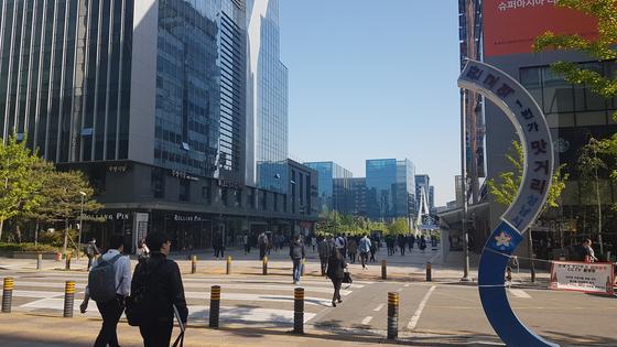 한국의 내로라하는 IT기업들이 밀집해있는 경기도 성남시 판교테크노밸리. 박민제 기자