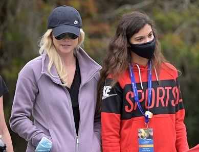 우즈의 딸 샘(오른쪽부터), 노르데그렌. AP 연합뉴스