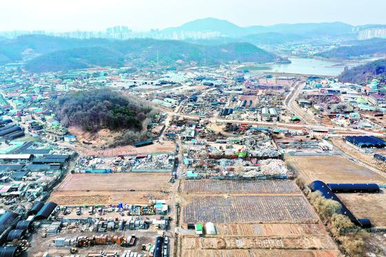 LH직원의 땅투기 의혹이 제기된 경기도 시흥시 과림동의 모습. 장진영 기자