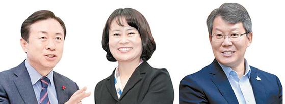김영춘, 박인영, 변성완(왼쪽부터)