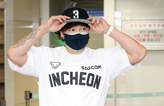 올해 27억원을 받아 단숨에 'KBO 연봉킹'이 된 신세계 야구단 추신수 [뉴스1]