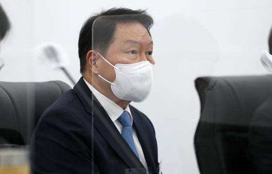 최태원 SK그룹 회장 겸 서울상공회의소 회장. 사진공동취재단