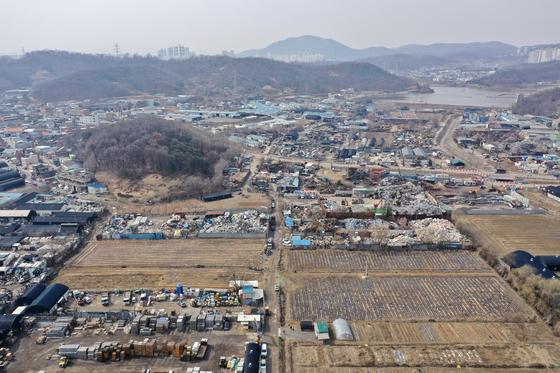 LH직원의 땅투기 의혹이 제기된 경기 광명시흥 신도시 후보지 일대. 장진영 기자