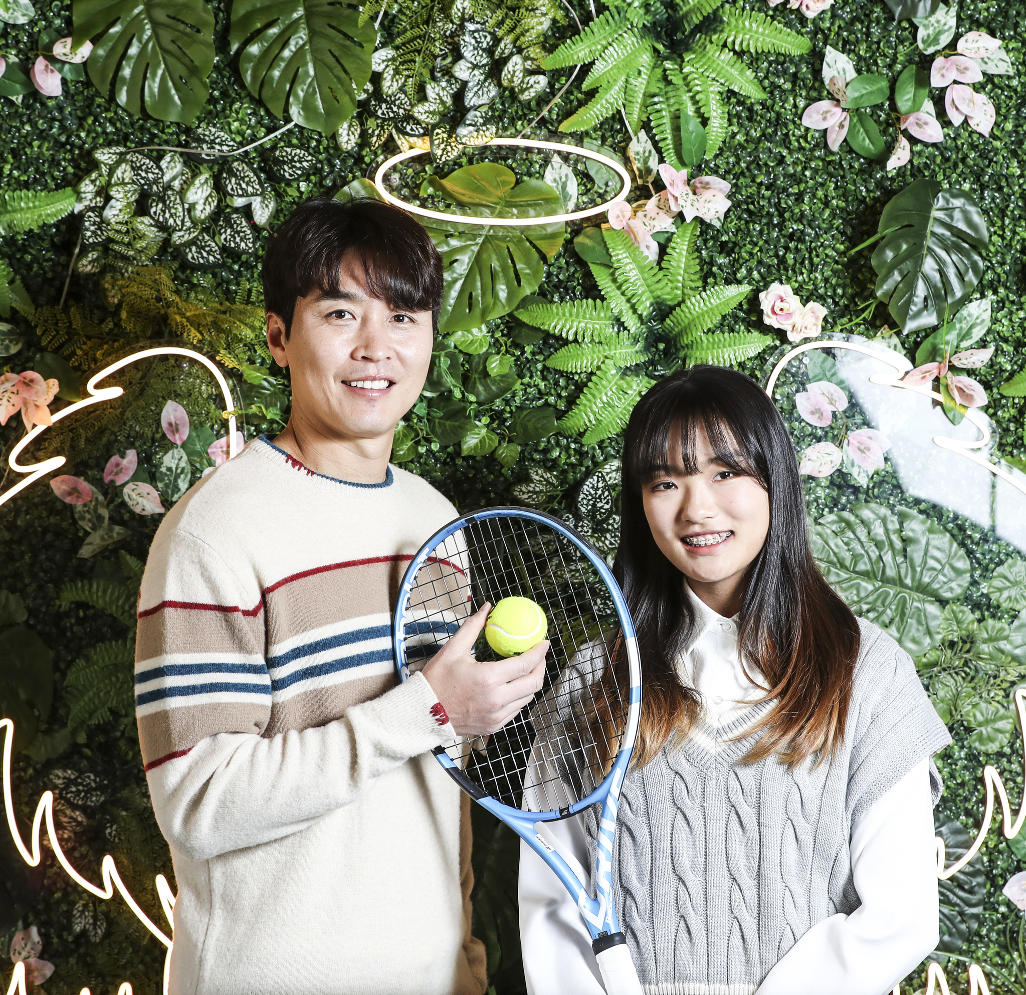 인천 송도 집 근처에서 만난 이동국과 테니스선수인 딸 재아. 김경록 기자