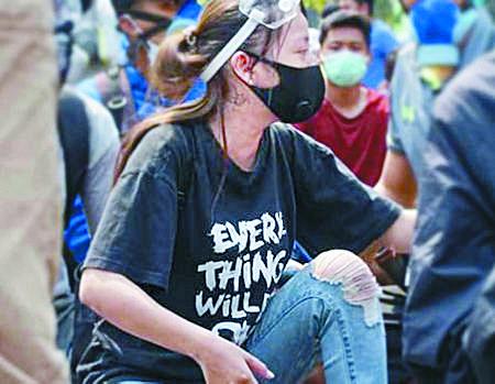 """사망 당시 그녀가 입었던 티셔츠에 새겨진 """"다 잘 될 거야(Everything will be OK)"""" 문구. [SNS 캡처]"""