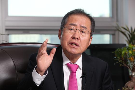 무소속 홍준표 의원. 우상조 기자