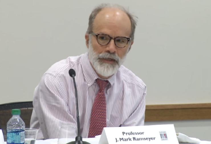 마크 램지어 하버드대 로스쿨 교수. Harvard Law School 유튜브 캡처.