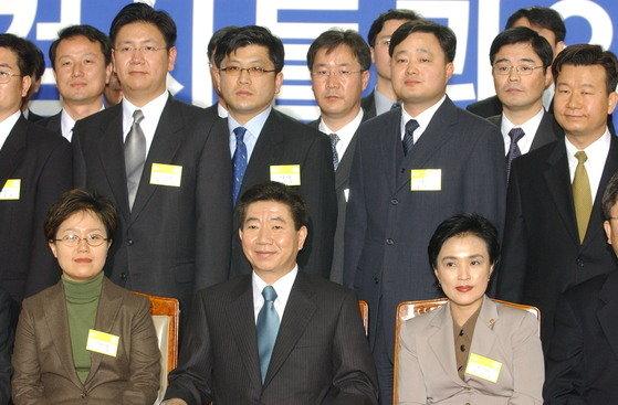 2003년 3월 9일 전국 검사들과의 대화에 나선 노무현 전 대통령. [중앙포토]