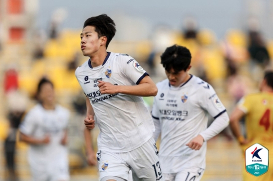 울산 김민준이 선발 데뷔전에서 골을 터뜨렸다. 한국프로축구연맹 제공
