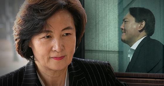 추미애 전 법무부 장관(왼쪽)과 윤석열 전 검찰총장. 연합뉴스·뉴스1