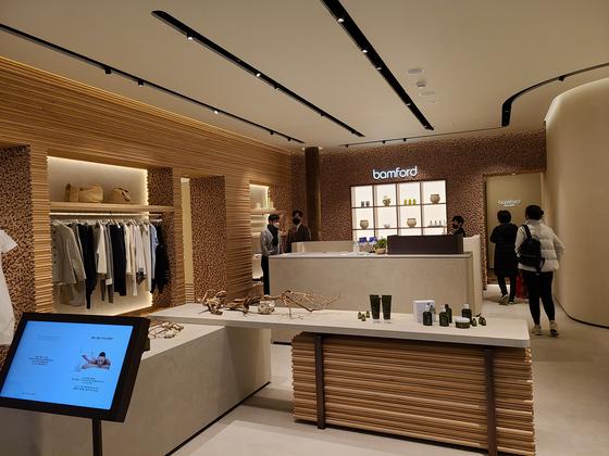 서울 여의도 '더현대서울' 백화점에 입점한 스파 브랜드 '뱀포드' 매장 모습. 이소아 기자