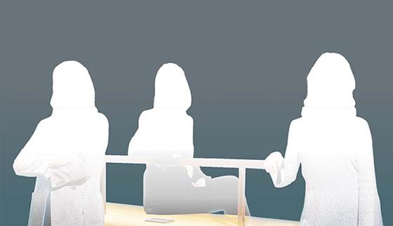 여성이사 구인 비상 메인 삽화
