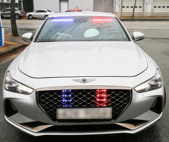 지난 4일부터 광주광역시 시내 도로에서 첫 운영에 들어간 광주경찰청의 암행순찰차. 프리랜서 장정필