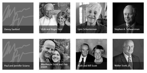 억만장자의 기부 캠페인 사이트인 '기빙 플레지'에 메켄지 스콧과 그의 남편 댄 스웻의 서명이 올라가있다. [기빙 플레지 갈무리]