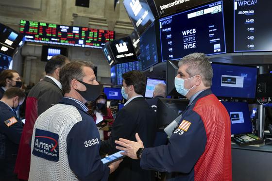 지난 5일 미국 뉴욕 증권 거래소의 모습.[AP=연합뉴스]