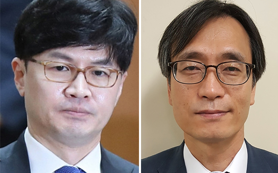 한동훈 검사장(왼쪽)과 정진웅 차장검사. 연합뉴스