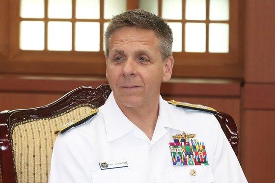지난 2018년 방한한 필립 데이비슨 미국 인도태평양사령관. [뉴스1]