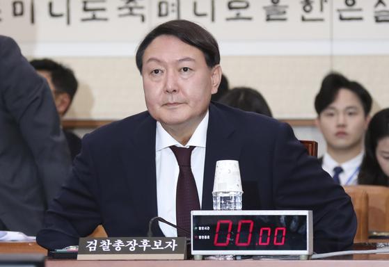 윤석열 전 검찰총장이 후보자 시절인 2019년 7월 8일 국회 인사청문회에 참석한 모습. 임현동 기자