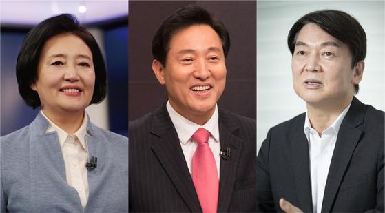 4월 7일 치러지는 서울시장 재보궐 선거에 민주당에선 박영선 후보, 국민의힘에선 오세훈 후보, 국민의당에선 안철수 후보가 각각 출마할 전망이다.