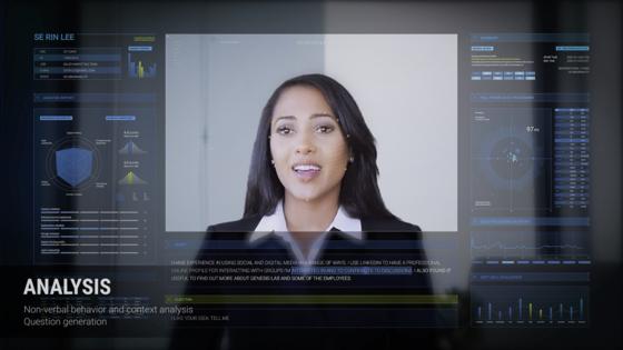 AI 영상면접 솔루션 기업인 제네시스랩의 AI 역량 면접 시연 장면. [사진 제네시스랩]