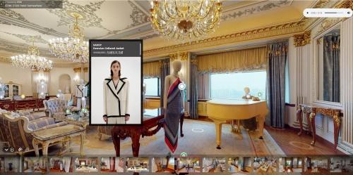 사진설명 : 잉크(EENK) 21SS HOTEL SOMEWHERE VR 프레젠테이션 캡쳐 화면