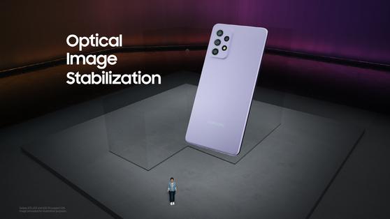 삼성전자가 17일 온라인을 통해 '삼성 갤럭시 어썸 언팩'을 열고, '갤럭시 A' 시리즈 스마트폰 3종을 공개했다. 사진 삼성전자 제공