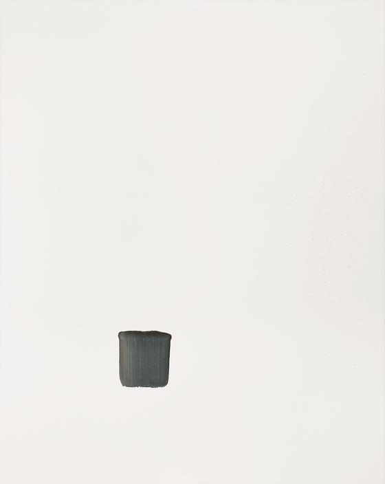 이우환 , 조응, oil and mineral pigment on canvas, 227x182cm(150), 1997, 추정가 3 억 ~5 억원.[사진 서울옥션]