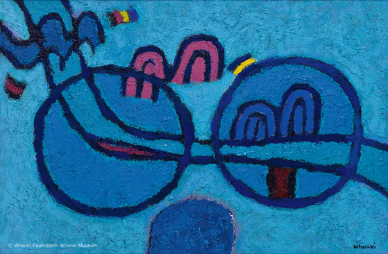 김환기, 무제 , oil and mixed media on canvas, 61.4x91.8cm(30), mid-1960s, 추정가 7 억 ~10 억원.[사진 서울옥션]