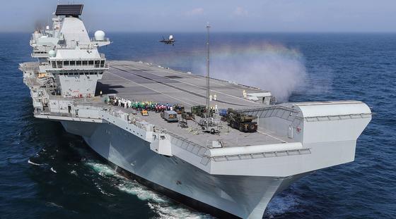 영국 해군의 항공모함 퀸엘리자베스함(CVA-01). [영국 해군]