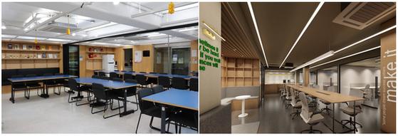 사진: (좌)킹고 스타트업 스페이스1, (우)4월 오픈예정인 킹고 스타트업 스페이스2