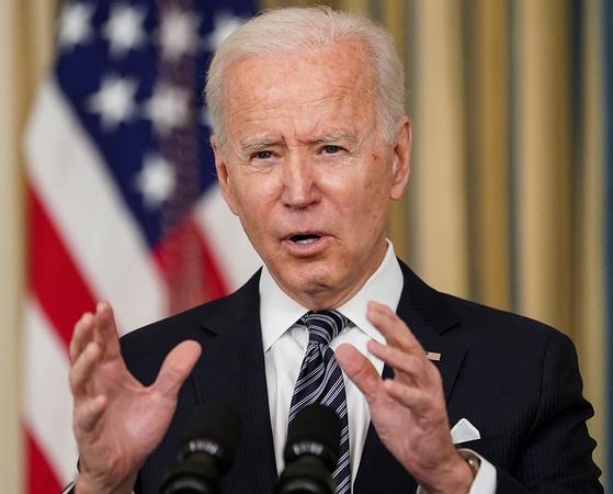 조 바이든 행정부의 경제 참모들이 이번주 바이든 대통령과 의회 지도자에게 약 3조 달러 규모의 경기 부양안을 제안할 계획이라고 뉴욕타임스가 보도했다. [로이터=연합뉴스]