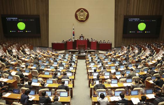 """여당과 야당 간 추가 법안 처리에 관한 심야 합의 """"25 일 오전 8시 총회"""""""