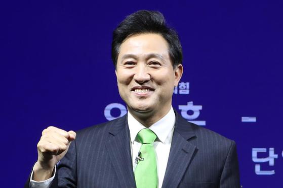 야권 서울시장 보궐선거 단일후보에 국민의힘 오세훈 후보가 선출됐다. 연합뉴스