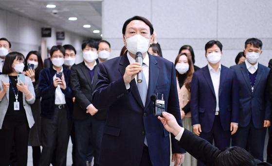 3월 4일 윤석열 당시 검찰총장. 김경록 기자