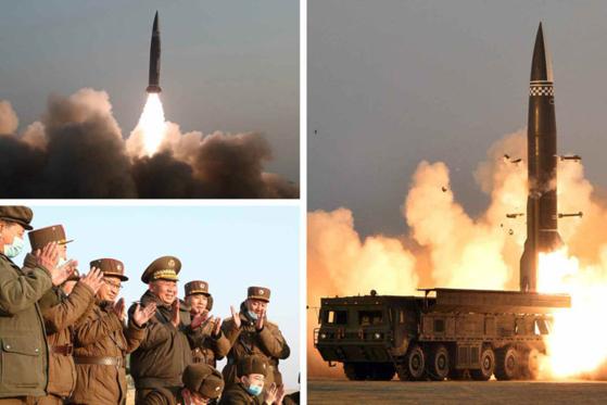 북한 노동신문이 26일 전날 미사일 시험발사를 성공적으로 마쳤다고 보도했다. [사진=노동신문]