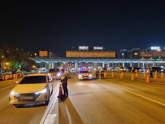 음주운전 단속 현장. 사진 경기북부경찰청 제공