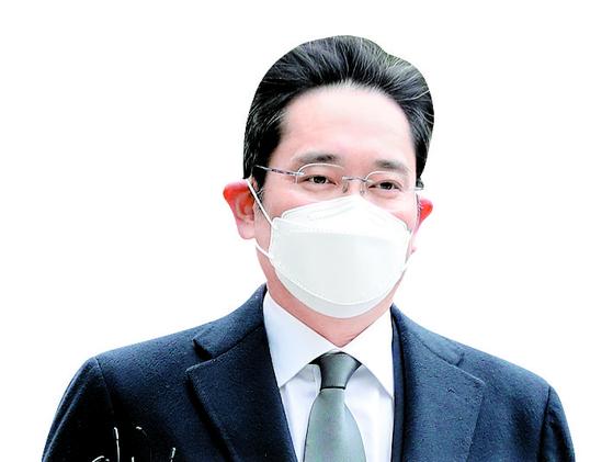 이재용 삼성전자 부회장이 지난 1월 18일 오후 서울 서초동 서울고등법원에서 열린 '국정농단' 사건 파기환송심 선고 공판에 출석하고 있다. 이날 이 부회장은 징역 2년6개월을 선고받아 법정구속됐다. 뉴스1