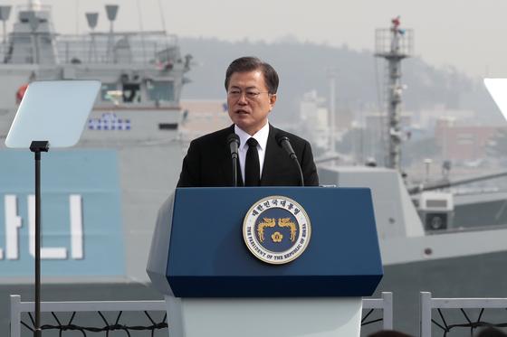 북한 미사일 발사 다음날 천안 함 기념식이 거행됐다.