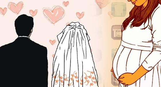 결혼과 출산. [중앙포토]