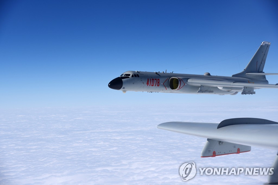 중국의 H-6K 폭격기. 연합뉴스