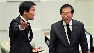 2014년 6월 정무부시장에 영입된 임종석 전 대통령 비서실장과 당시 박원순 시장.[연합뉴스]