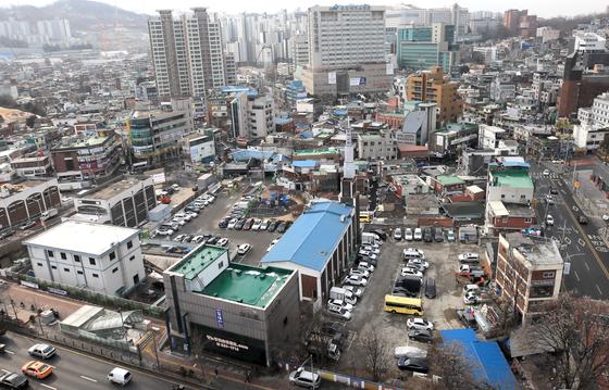 지난 1월 1차 공공재개발 후보지로 선정된 서울 동작구 흑석동 흑석2구역의 모습. 뉴스1