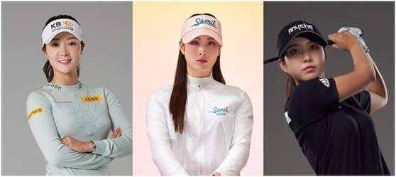 왼쪽부터 오지현, 박결, 장은수. [사진 이니셜스포츠]